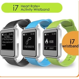 TechComm i7 Smart Watch with E-Ink Screen Heart Rate Monitor Water Resistant
