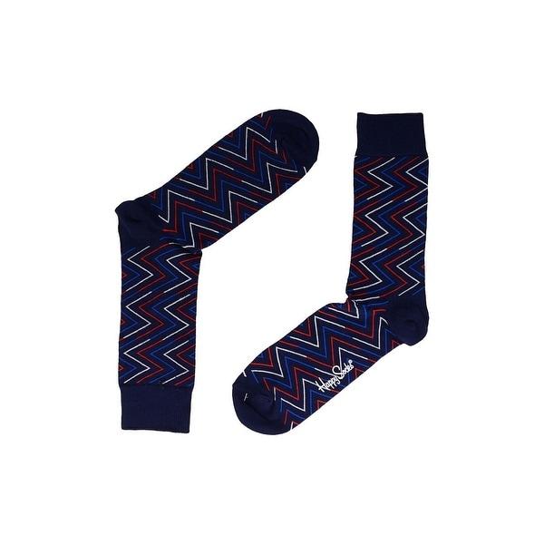 Shop Happy Socks Mens Crew Socks Knit Pattern - 9-11 - Free Shipping ...