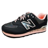 New Balance Men's 574 Classics Black/Pink-Grey ML574OBG