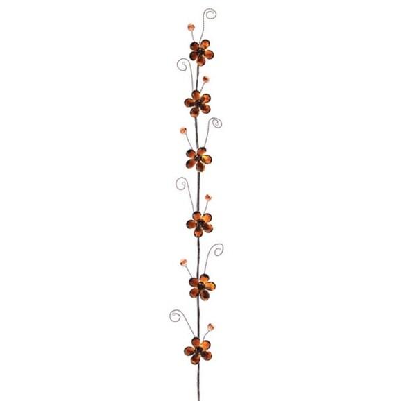"Club Pack of 12 Amber Brown Flower Artificial Christmas Garland 30"" - Unlit"