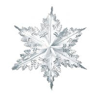 Club Pack of 12 Metallic Silver Winter Snowflake Hanging Christmas Decorations 24""