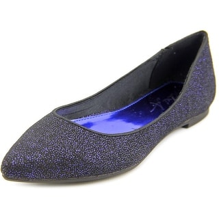 Mari A. Pointe Women Pointed Toe Canvas Blue Flats
