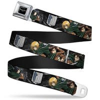 Attack On Titan Logo Full Color Black White Red Attack On Titan Scouting Seatbelt Belt