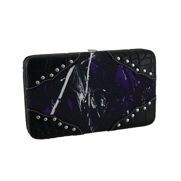 Moon Shine Camouflage Chrome Studded Ladies Wallet