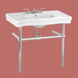 White China Console Sink Wall Mount Belle Epoque Chrome Bistro Legs