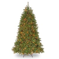 7.5' Pre-Lit Dunhill Fir Artificial Christmas Tree - Multi-Color Lights - green