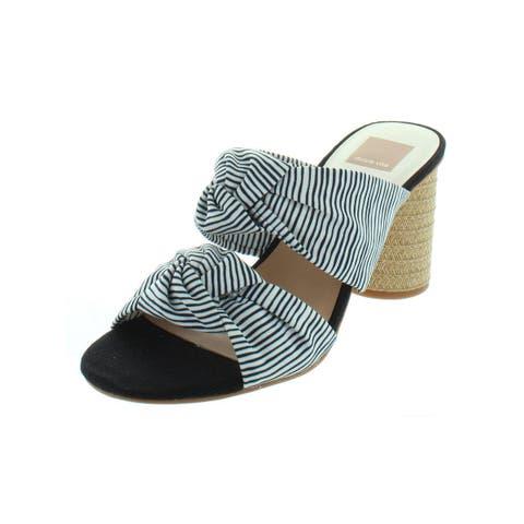 Dolce Vita Womens Jene Slide Sandals Knot-Front Cylinder Heel