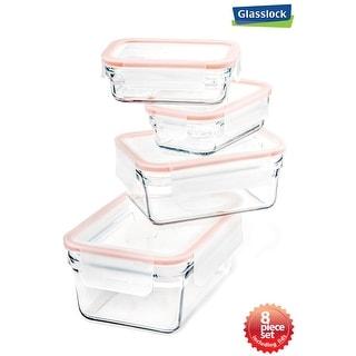 Glasslock 8-Piece Rimless Food Storage Container Set