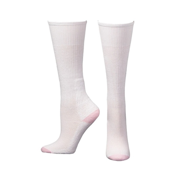 Boot Doctor Socks Womens Over Calf Cushion 3 pack White