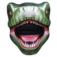 """Giant T-Rex Head Pool Float Heavy Duty Vinyl - 54"""" x 65"""" x 23"""" - Green"""