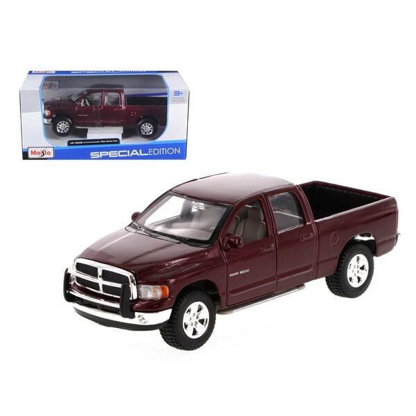 Shop 2002 Dodge Ram Quad Cab Burgundy 1/27 Diecast Model