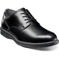 Nunn Bush Men's Marvin Street Plain Toe Derby Shoe Black Leather