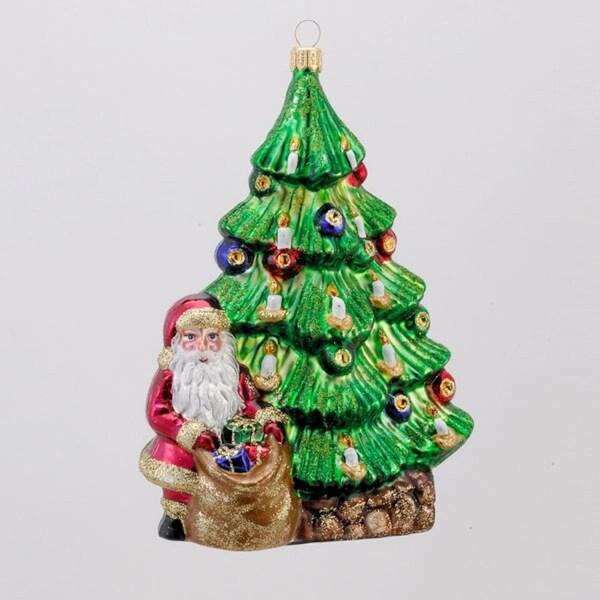 "6"" David Strand Designs Glass Trimming the Tree Christmas Ornament"
