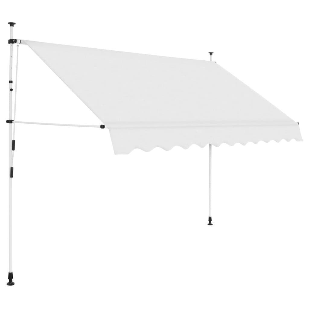 Manual Awning Canopy Retractable Sun Shade Shelter Garden Patio Cream Anthracite