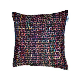 Moes Home Collection IE-1033 23.5 Inch Wide Square Cotton Throw Pillow - Black