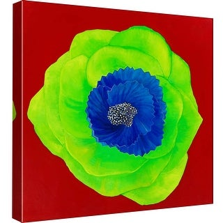 "PTM Images 9-98976  PTM Canvas Collection 12"" x 12"" - ""Green"" Giclee Roses Art Print on Canvas"