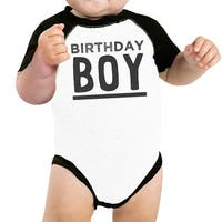 Baby Boy Baseball Bodysuit Black Cute Baby Birthday Gift T-Shirt Idea