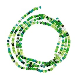 Czech Seed Beads Mix Lot 11/0 Ever Green 1/2 Hank
