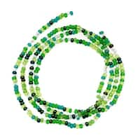 Czech Seed Beads Mix Lot 11/0 Ever Green 1/2 Hank