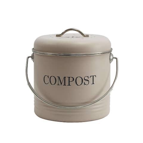 Galvanized Steel Compost Bin for Kitchen