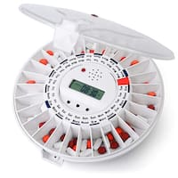 LiveFine Automatic Pill Dispenser 28-Day Dispenses Up To 6 Times Per Day