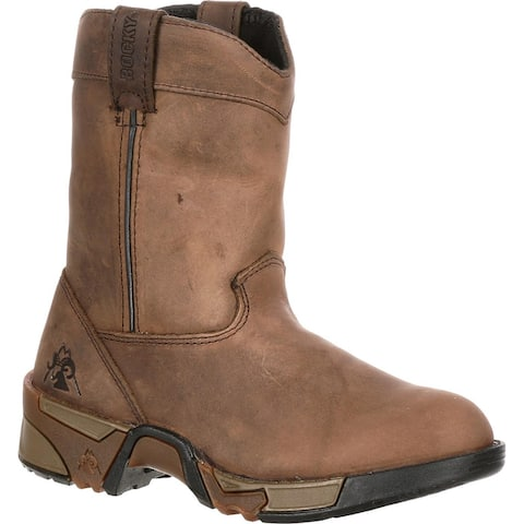 Rocky Kids' Aztec Pull-On Brown Boots - style #FQ0003638