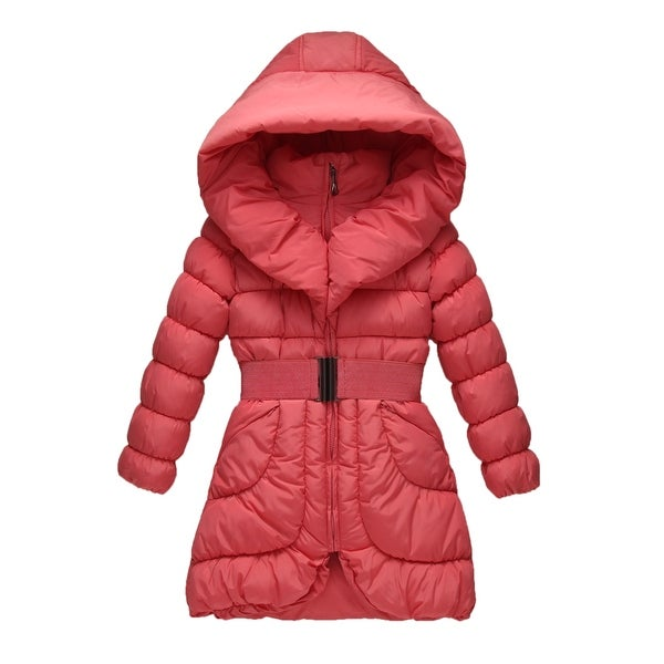 4322a8377 Shop Richie House Girls  Padding Jacket with Elastic Buckle Belt ...