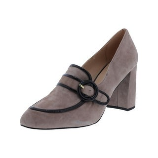Isaac Mizrahi Womens Gene Oxfords Block Heel Tailored (Option: toffee - 9.5 medium (b,m))