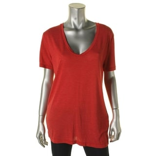 IRO Womens Pullover Top Short Sleeves Knit