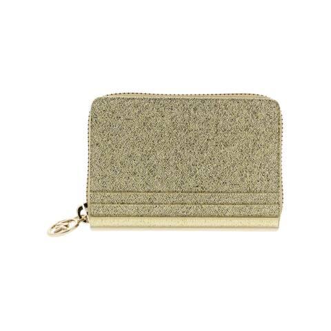 MICHAEL Michael Kors Womens Card Case Metallic Zip-Around - O/S