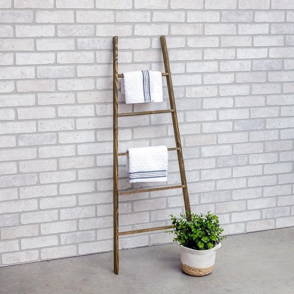 "Furniture Pipeline Calluna 47"" Tall Handmade Rustic Accent Ladder. Opens flyout."