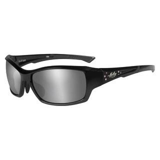Harley-Davidson Womens Rhinestone Lace Sunglasses, Gray Lens/Black Frame HALCE02 - Black - 50-19-127