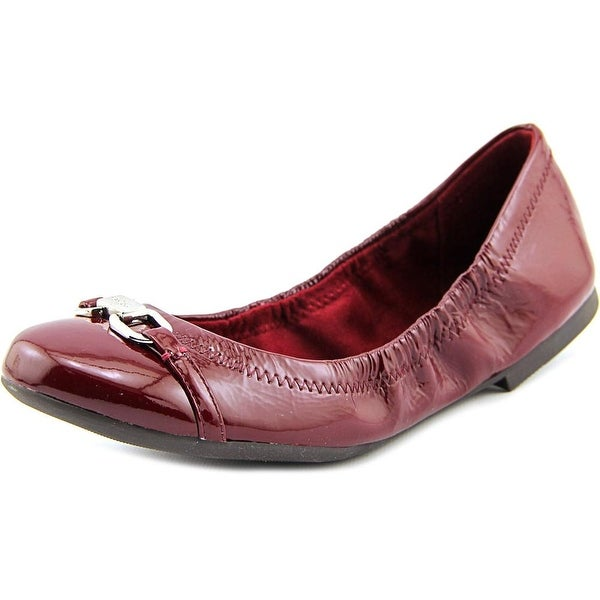 Ralph Lauren Leather Round-Toe Flats