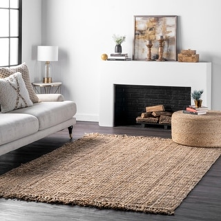 The Curated Nomad Saragossa Handmade Braided Jute Reversible Rug