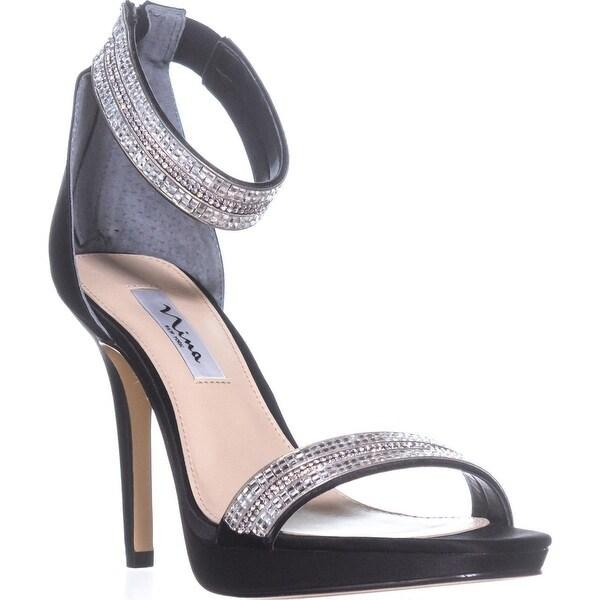 Shop Nina Aubrie Ankle 9 Strap Sandals, Black - 9 Ankle us / 39 eu - - 21121350 433354