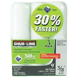 Shur-Line 3Pk 3/8X9 Roller Cover