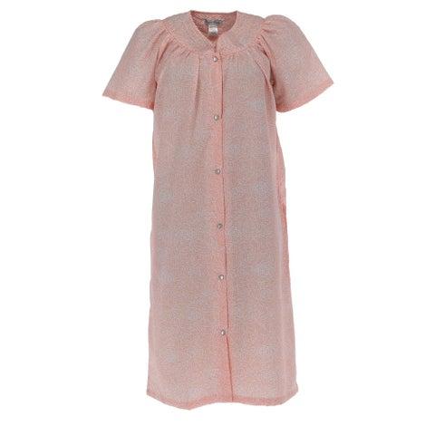 Elegant Emily Women's Plus Size Floral Print Duster Robe