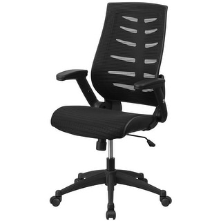 """Delacora FF-ZP-806  25.75"""" Wide Fabric Swivel Chair with Adjustable Arms"""