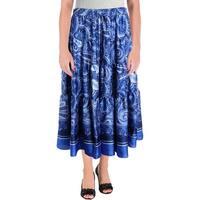 Lauren Ralph Lauren Womens Oretha Peasant, Boho Skirt Paisley Tiered