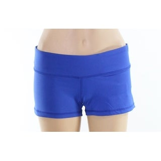 Cloya NEW Blue Womens Size Medium M Pull-On Solid Athletic Shorts