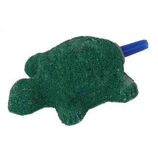 Fish Tank Aquarium Mineral Tortoise Design Bubble Air Stone Dark Green