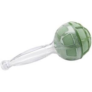 """Crystal Acrylic Handle W/Green Dry Foam - Gala Bouquet Holder 4.125""""X9.75"""""""