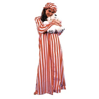 AC155 Morris Costumes Nightgown And Cap Ladies ,One Size