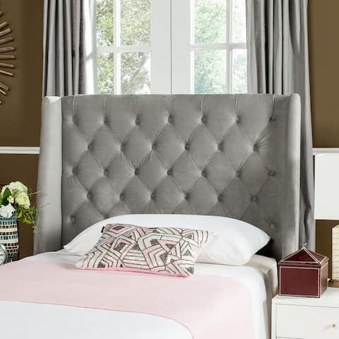 Safavieh London Pewter Upholstered Tufted Wingback Headboard (Twin)