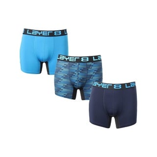 Layer 8 Mens Boxer Briefs 3 Pack Tagless