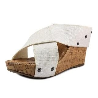 Esprit Oceane Open Toe Canvas Wedge Sandal