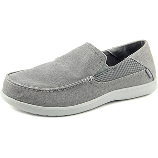 Crocs Santa Cruz 2 Luxe M Men Round Toe Canvas Gray Sneakers