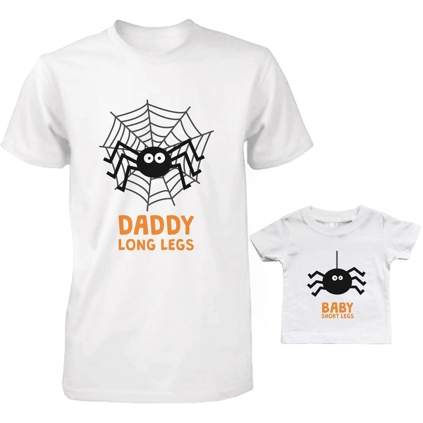 Long Legs Spiders Dad and Baby Matching T-Shirts