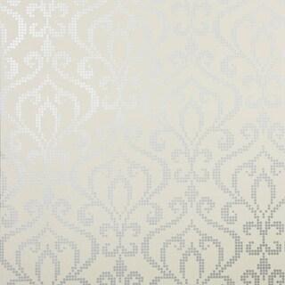 Brewster 2542-20755 Venus Pewter Metallic Mini Damask Wallpaper