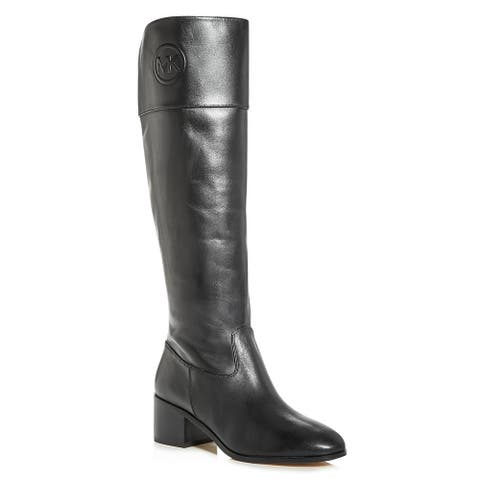 MICHAEL Michael Kors Womens Dylyn Riding Boots Leather Knee High